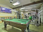 Stay in shape using the well-equipped private gym.