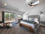 The chic Master Bedroom is on the second floor and has its own access to the patio.