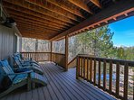 Enjoy lounging in the Adirondack chairs on the second floor patio, next to the hot tub.