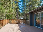 Simply step outside of the living room to enjoy the fresh Tahoe air.