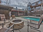Community Pool Area and Fire Pit