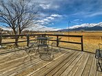 Enjoy views of the College Mountains from the deck!