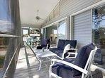 Relax at the lanai in Pias Paradise Bonita Springs, a vacation rental with hotel service