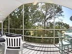 Marvelous view into the green from the lanai of Pias Paradise in Bonita Springs, FL