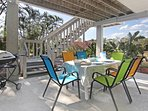 outdoor dining table and Weber Gas Grill at Pias Paradise - just 1 mile to beautiful Bonita Beach
