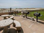 Grill and picnic area overlooking the beach and Gulf