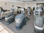 Community fitness center with cardio and weight equipment