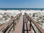 Boardwalk leading to beach and Gulf