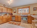 Large, fully equipped kitchen to prepare tasty home cooked meals