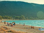 Agios Ioannis beach is five minutes away