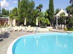 Plenty of sun loungers around the pool