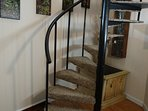 Circular staircase with NEW carpet