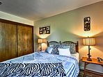 Boasting a queen bed, this room is perfect for couples.