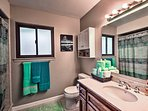 Get ready for bed in this en-suite bathroom.