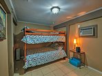 Enjoy sweet dreams in the twin-over-twin bunk bed.