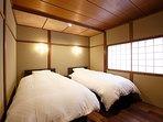 2F: Western style bed room for 2 people