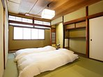 2F: Japanese style bed room for 3 people ※sleeping on the floor