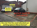 Small allocated parking space