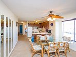 Nicely decorated living and dining area where you will relax after vacation days.
