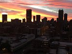 Sunset over CBD from Balcony