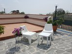 Terrace with views of Mount Etna.