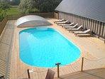Heated outdoor pool