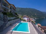 Communal swimming pool with amazing lake view - 12 apartments