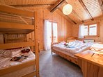 Secondary bedroom with two single beds