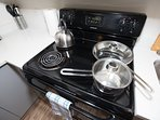 Pots, pans, saucers, tea kettles...   We have everything to help you cook up your favorite meals!