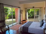 The master bedroom with its own private garden which receives beautiful morning sunlight