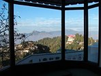 The Bay windows in the holiday villa in Mussoorie give you a magnificent view