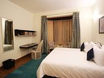 The fourth Bedroom with a double-bed. All rooms have Maspar bed linens