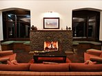 Get cosy around the fire and soak in the warmth of the fire and the hospitality of our in-home staff