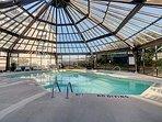 Enclosed Pool & Hot Tub