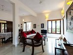 Ground floor open plan living area with bright and spacious with a touch of Bali interiors