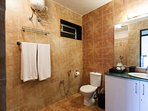 Shower room attached to bedroom 3 on ground level with free amenities