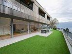 Villa overview enormous open space facing the lake