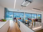 Open plan modern fully furnished kitchen