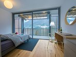 Bedroom 4 double bed with terrace access and amazing lake view