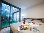 Bedroom 1 double bed annexed to sitting area ground floor
