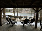 COVERED LAKE LEVEL WALK OUT DECK