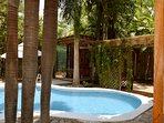 Our newly redone pool and garden area provides the perfect space to relax in the privacy of your own