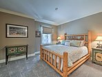 You'll find a queen bed in the fourth bedroom.