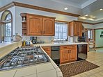 The fully equipped kitchen features new appliances.