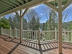 You'll have scenic views of the lake from every deck.