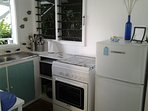 Bure kitchen (full stove and fridge/freezer)
