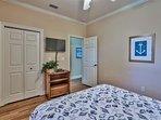2nd Floor - Queen Bedroom w/ TV