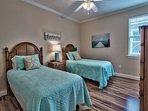 3rd Floor - Bedroom w/ 2 Twin Beds and TV