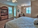 2nd Floor - Master King Suite w/ TV and Balcony Access