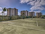 Show off your serve at one of the 10 shared tennis courts.